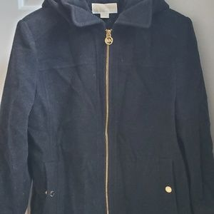 MICHAEL KORS Wool coat and hoodie